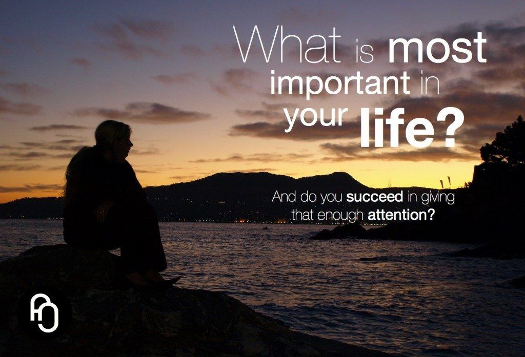 What is really important in life ?
